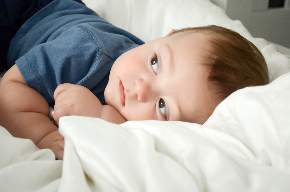 Miles - 9 Month baby photos - Having sweet little baby boy daydreams