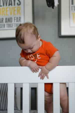 Miles | 10 months - standing in his crib and trying to walk