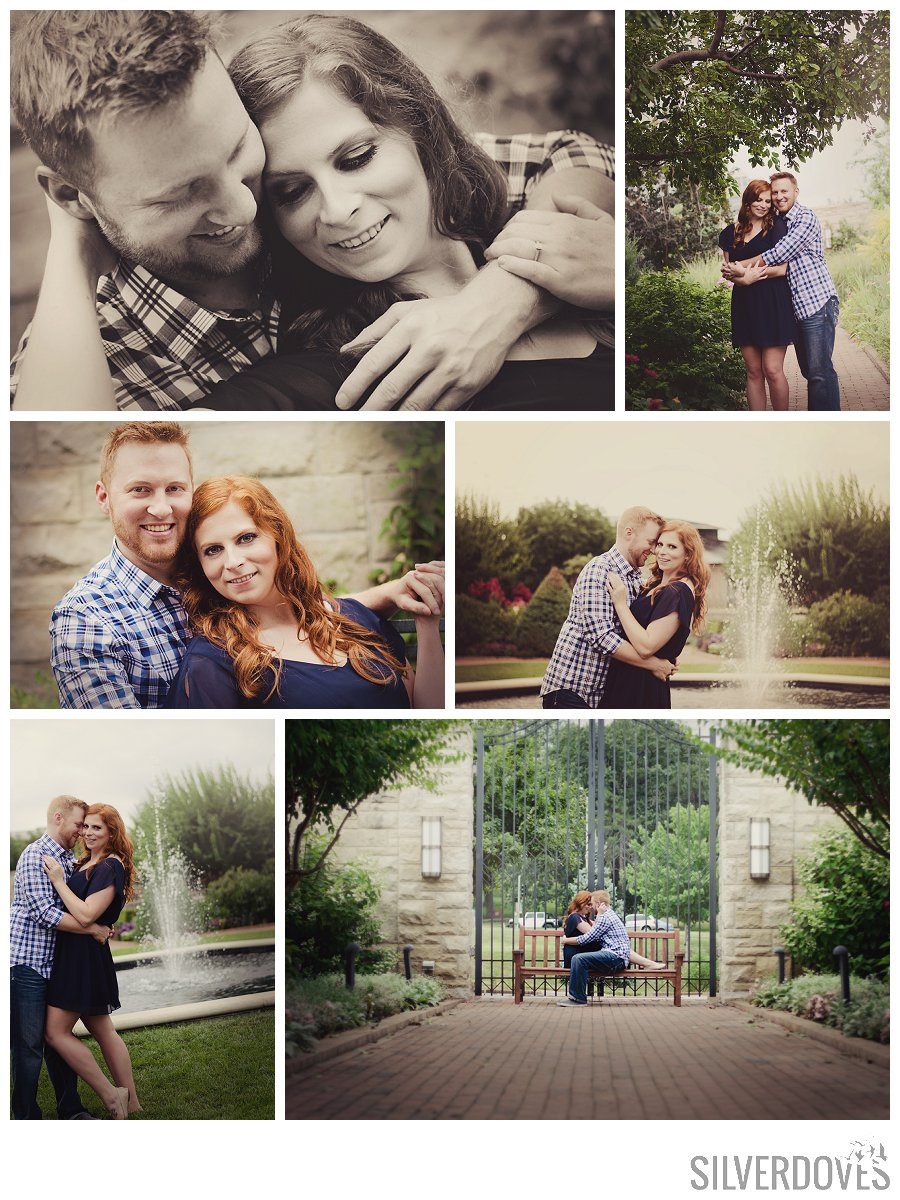 kauffman gardens engagement photography in kansas city