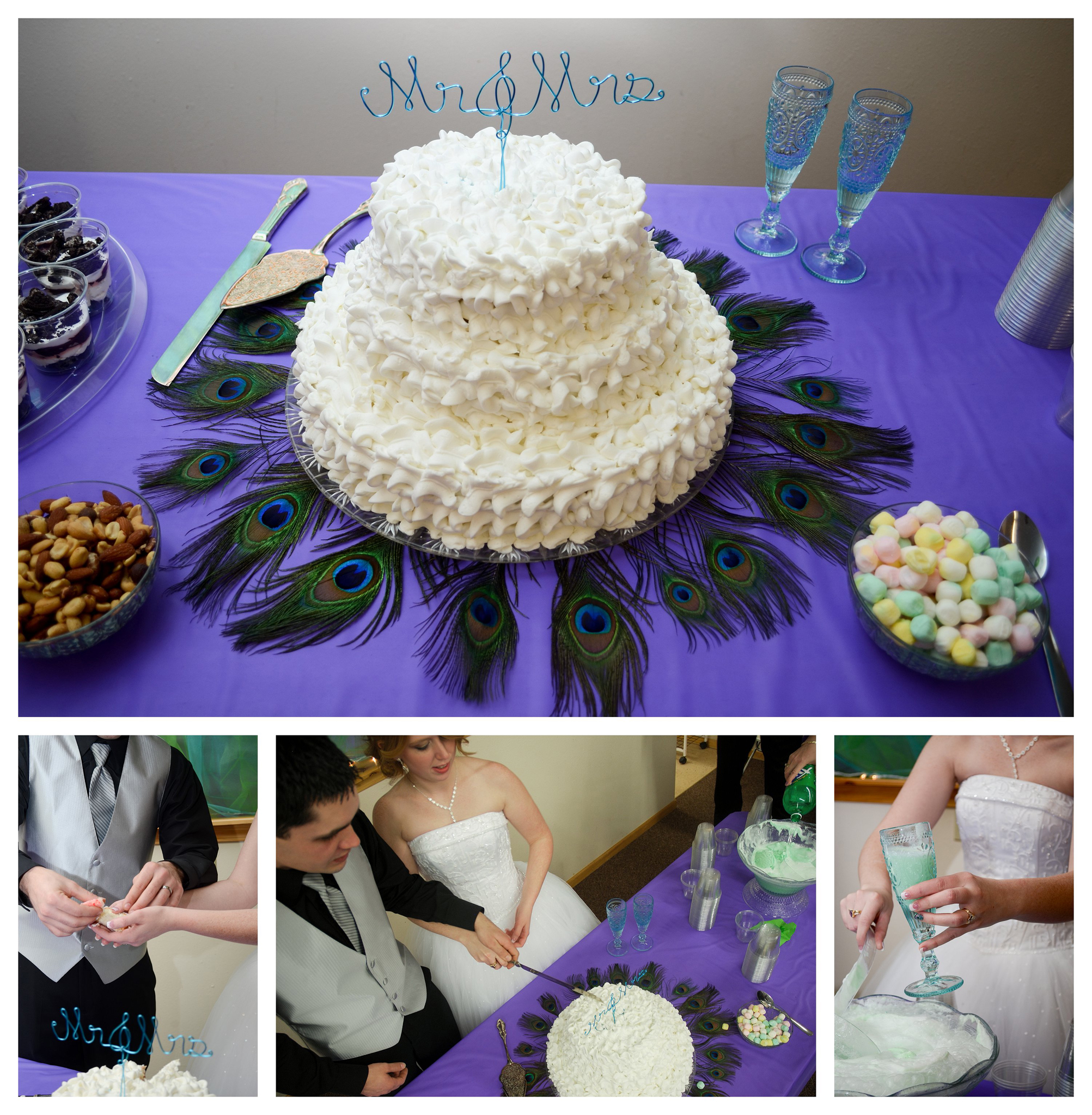 The Cake Wedding Photo by Johnson County Wedding Photographer Brittany Tarchala