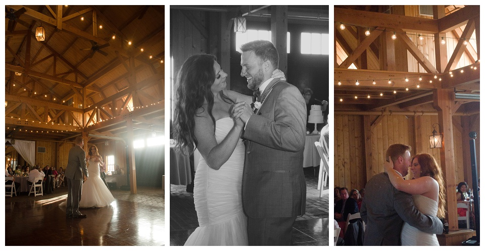 elegant outdoor ceremony and barn reception in southeastern Kansas