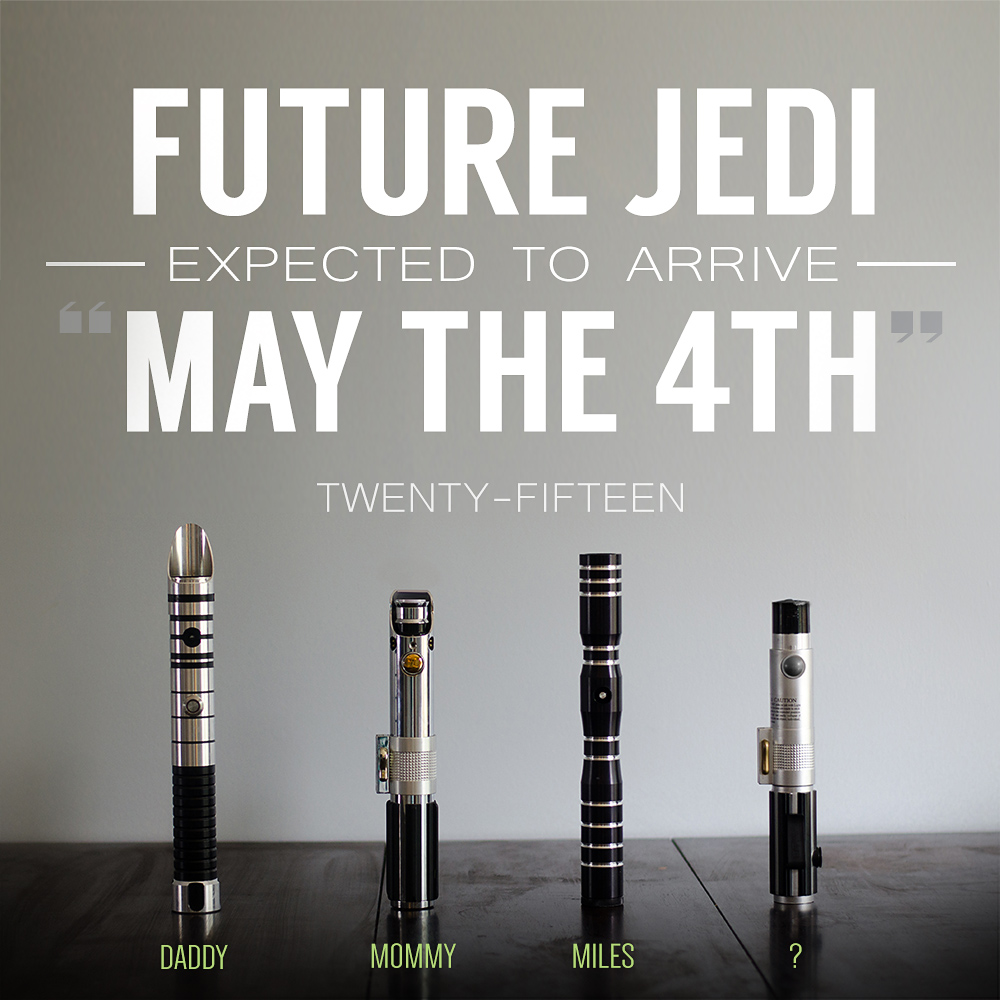 Star Wars Jedi Pregnancy Announcement