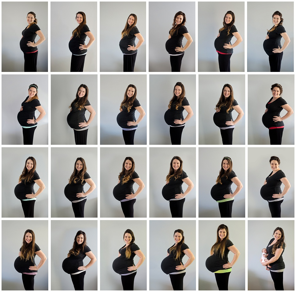 pregnancy progress from week 17 through 41