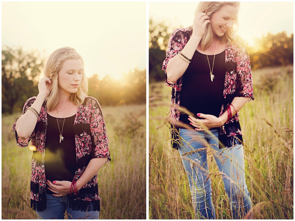 Golden Hour Maternity Photo