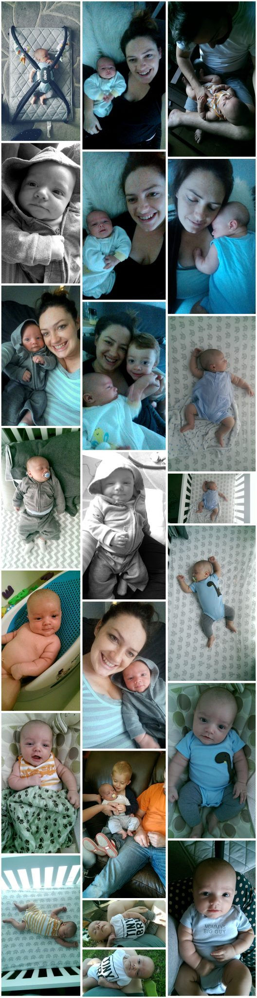 Finn's 2 Month Update - collage