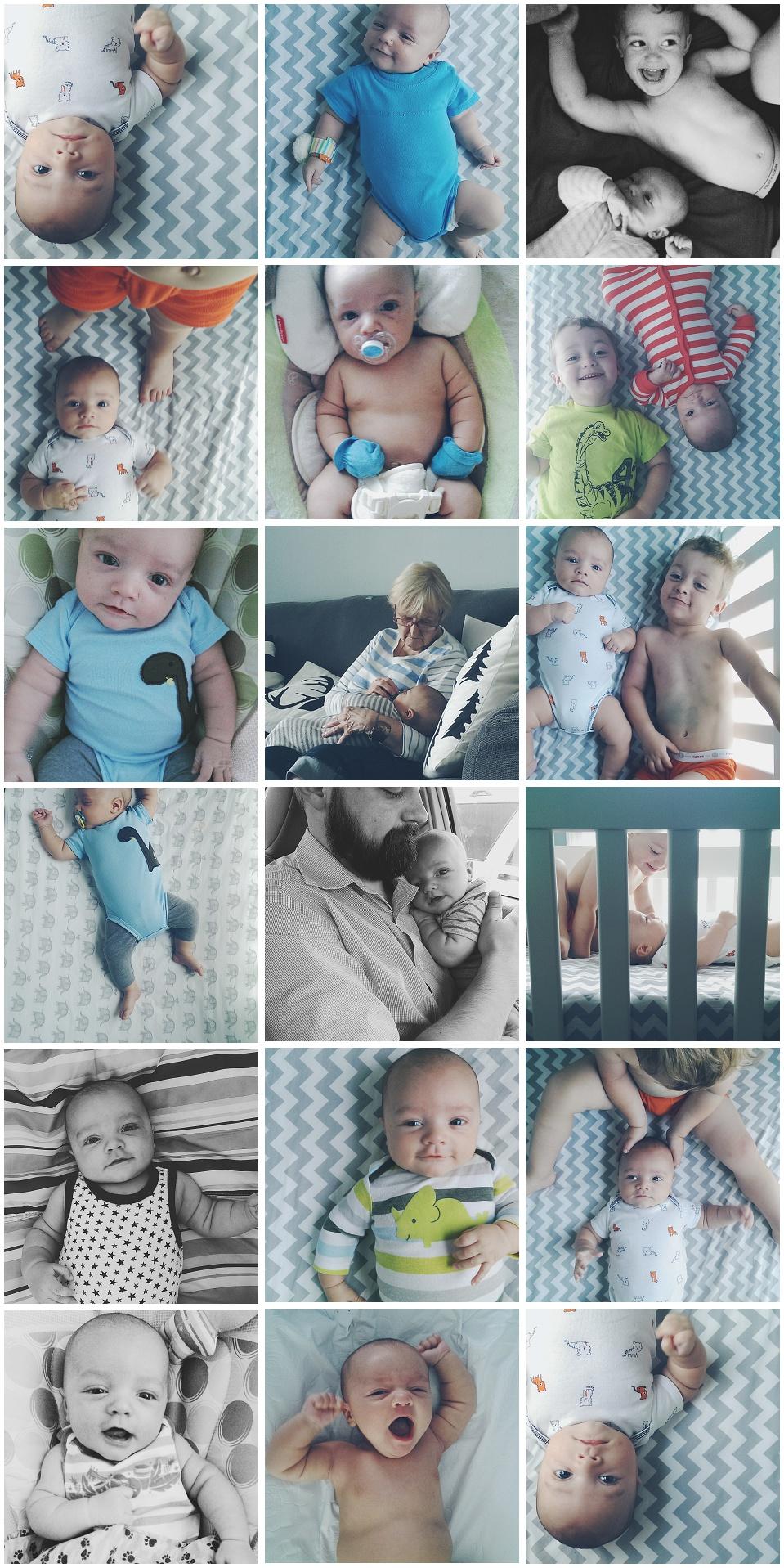 Finn 3 Month Update - Instagram