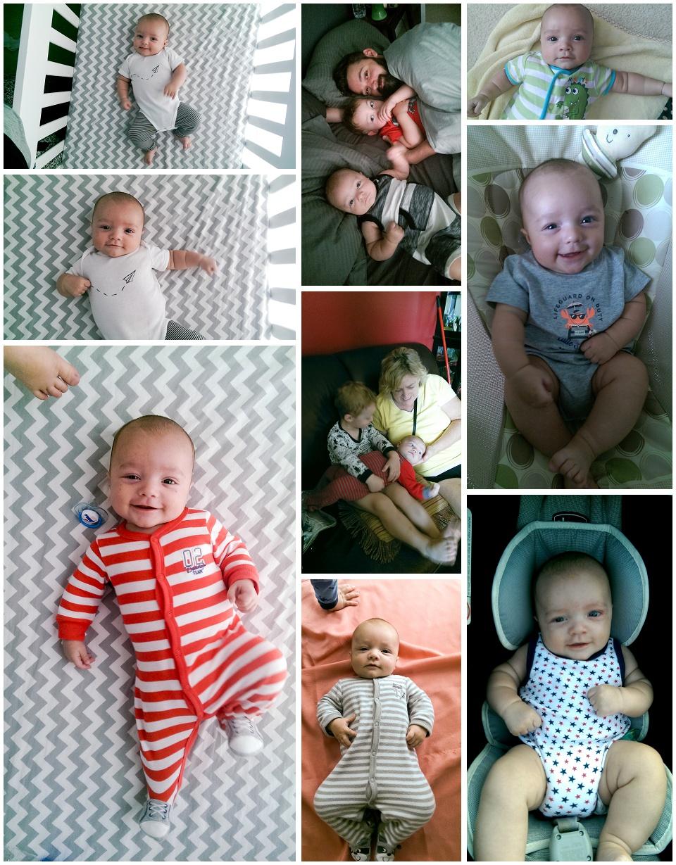 Finn 3 Month Update - Collage