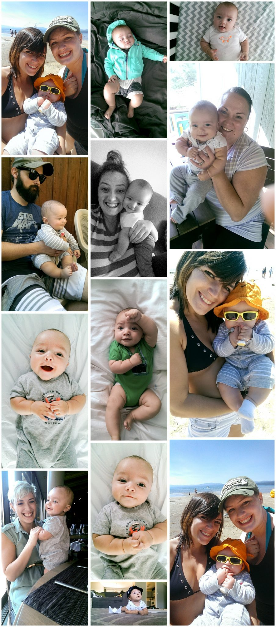 Finn's 4 Month Photos - Cell phone
