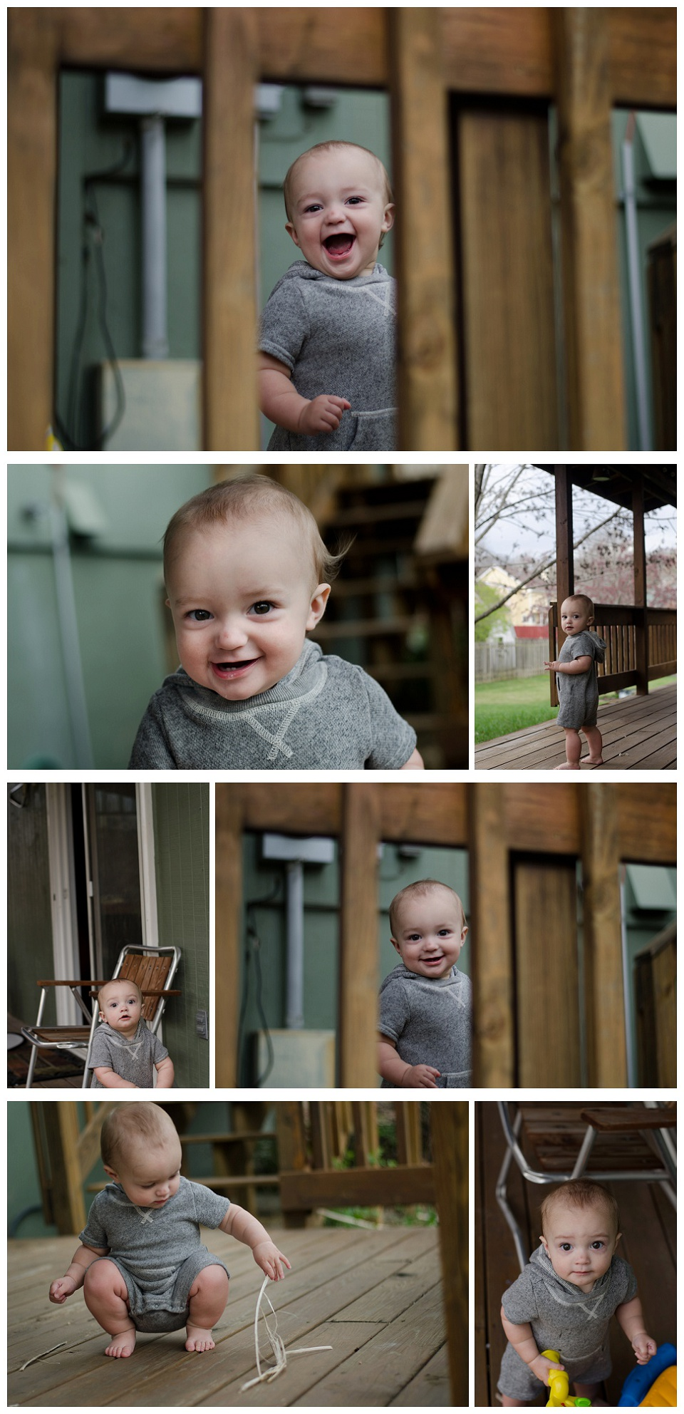 Finn's 11 Month photos - Gray