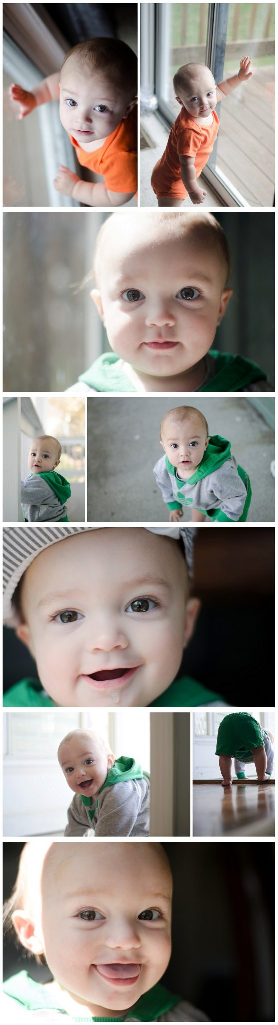 Finn's 11 Month photos - Green